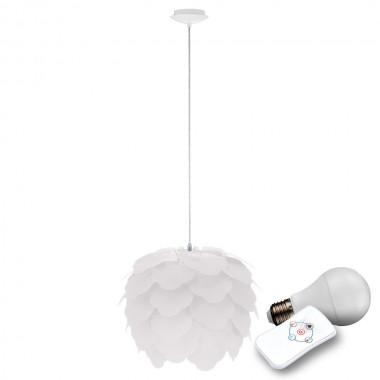 led pendelleucht mit wei em schirm zum zusammenstecken lampen m bel innenleuchten h ngeleuchten. Black Bedroom Furniture Sets. Home Design Ideas