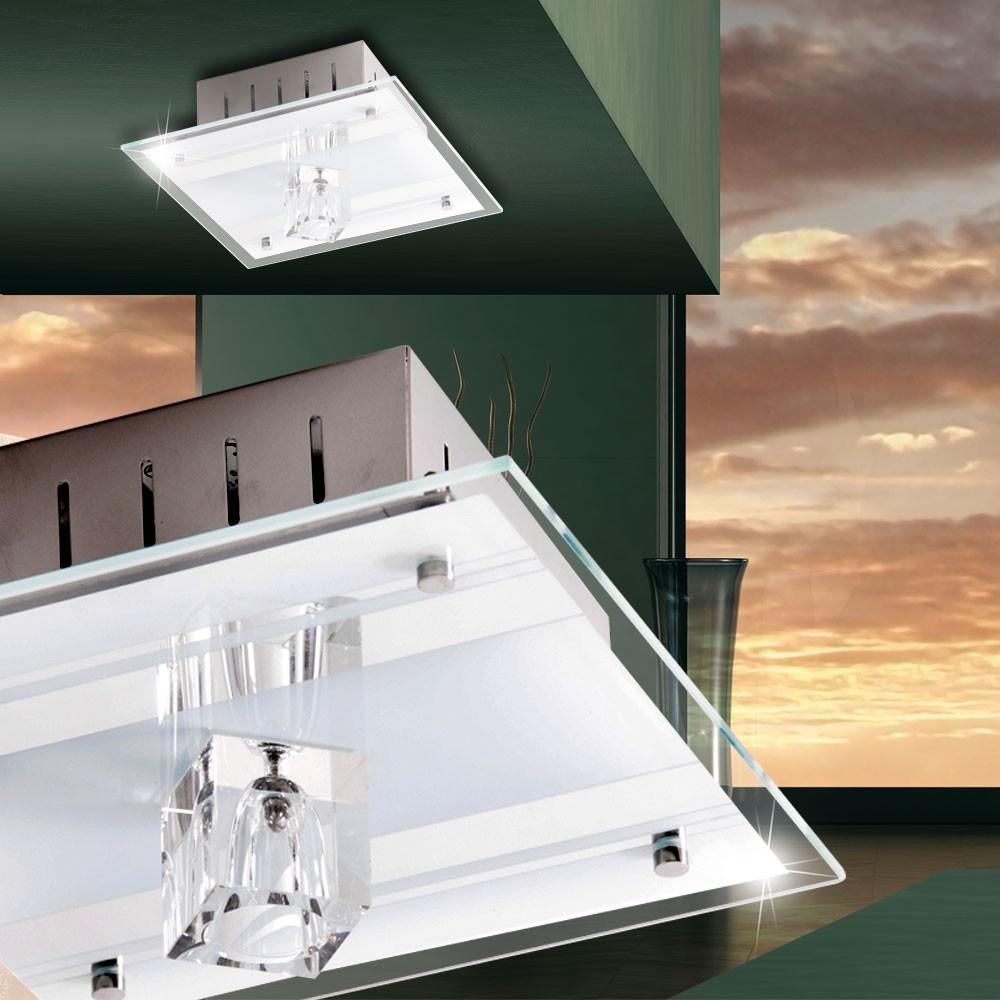 deckenleuchte aus spiegelglas und metall mit halogen leuchte lampen m bel innenleuchten. Black Bedroom Furniture Sets. Home Design Ideas