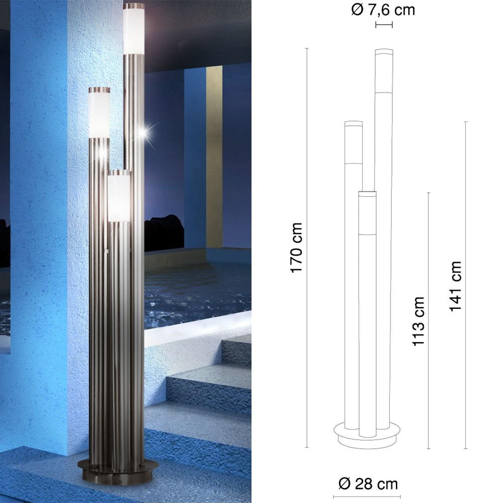 au enlampe gartenleuchte ip44 au enbeleuchtung terrassen beleuchtung globo boston 3159 3 lampen. Black Bedroom Furniture Sets. Home Design Ideas