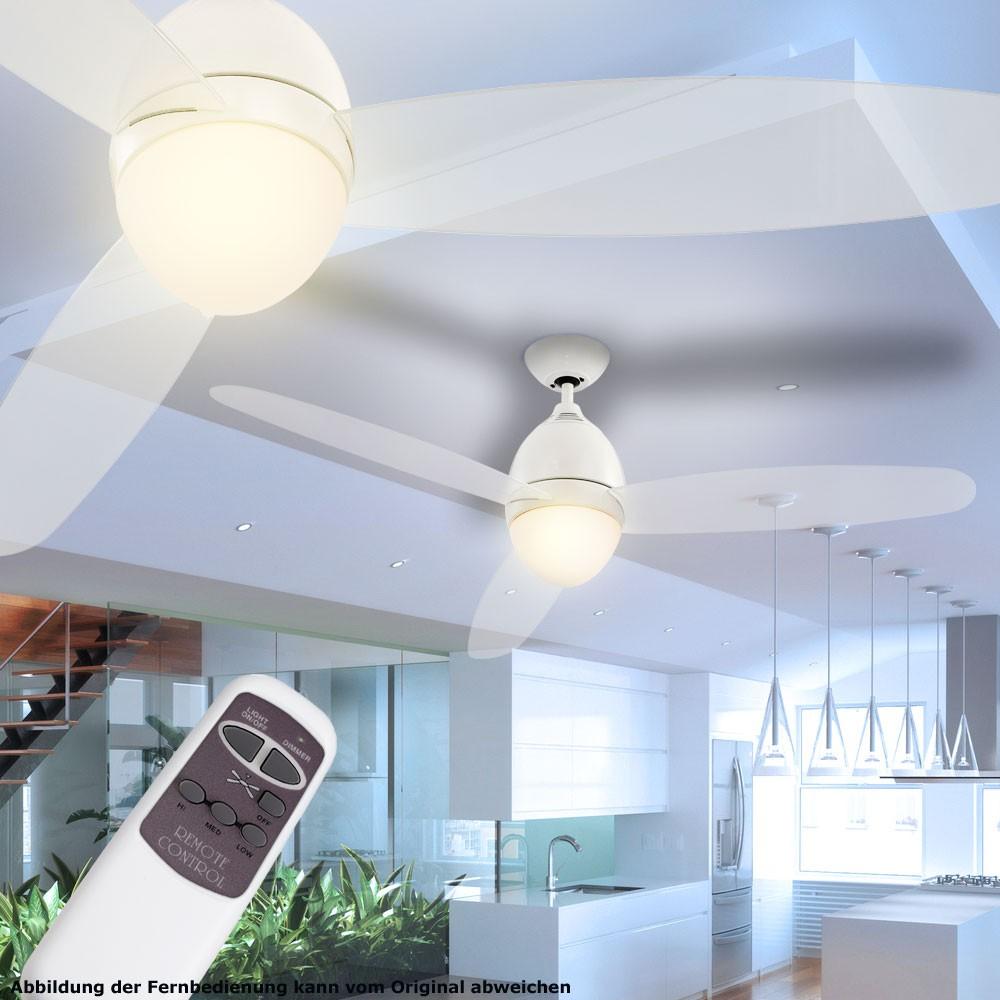 Deckenventilator mit led beleuchtung und fernbedienung lampen ...