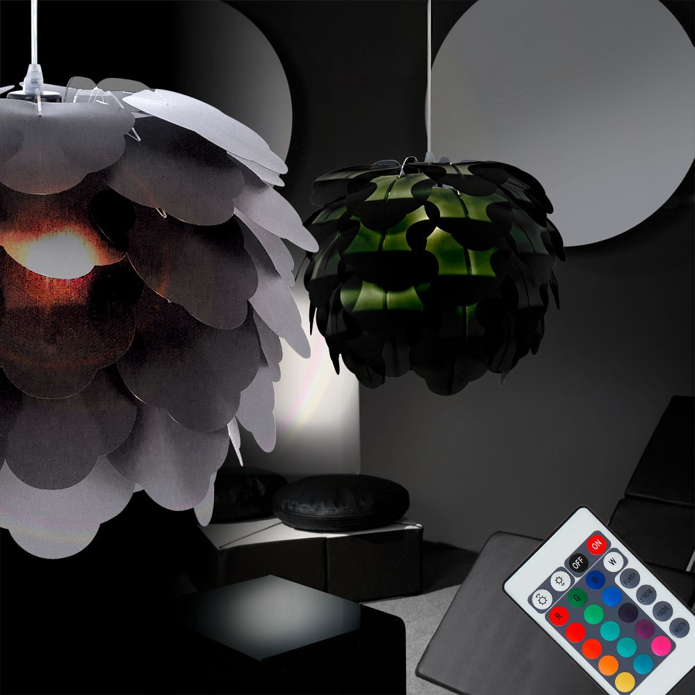 rgb led h ngeleuchte zum zusammenstecken lampen m bel innenleuchten h ngeleuchten. Black Bedroom Furniture Sets. Home Design Ideas
