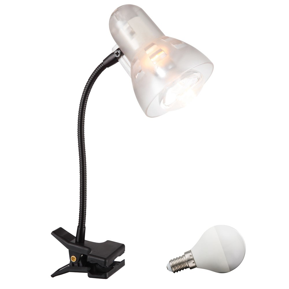 led 3 watt klemm strahler tisch lampe flexo arm leuchte. Black Bedroom Furniture Sets. Home Design Ideas