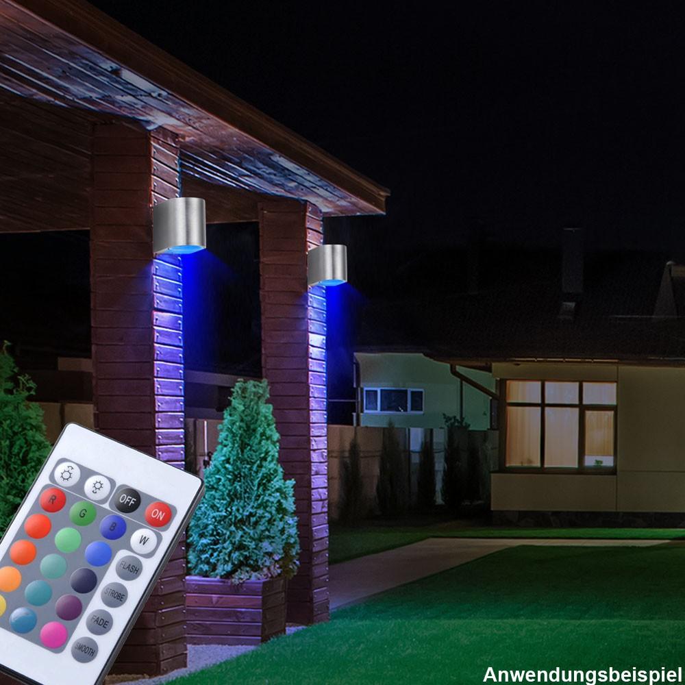 rgb led wandleuchte f r den au enbereich lampen m bel au enleuchten wandleuchten. Black Bedroom Furniture Sets. Home Design Ideas