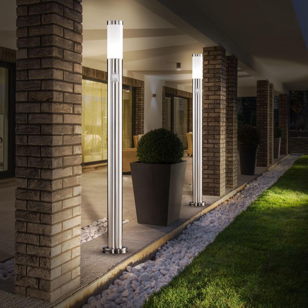 2er au en stehleuchten mit bewegungsmelder lampen m bel. Black Bedroom Furniture Sets. Home Design Ideas