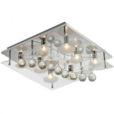 deckenleuchte chrom beleuchtung kristall glas wohnzimmer quadratisch lampe esto 940030 8 aquila. Black Bedroom Furniture Sets. Home Design Ideas