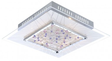 deckenleuchte mit chrom und glas kristallen lampen m bel innenleuchten deckenleuchten. Black Bedroom Furniture Sets. Home Design Ideas