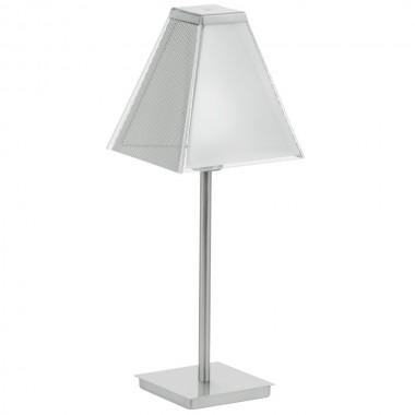 tisch leuchte silber matt schalter flur diele beleuchtung 2700 k eglo ximena 89766 lampen. Black Bedroom Furniture Sets. Home Design Ideas