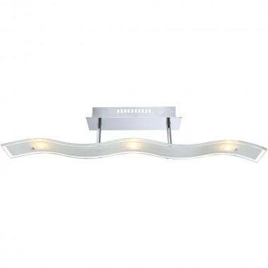 LED 15 Watt Decken Leuchte Chrom Glas Satiniert Lampe