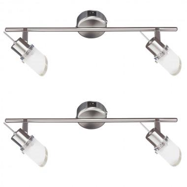 2er set decken und wand spot strahler leuchte beweglich osram leuchtmittel wofi lampen m bel. Black Bedroom Furniture Sets. Home Design Ideas