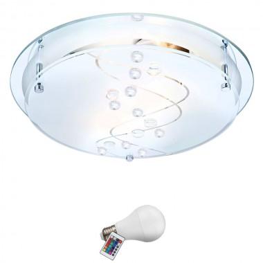 14 watt rgb led decken leuchte dimmbar farbwechsel dekorsteine k chen beleuchtung lampen m bel. Black Bedroom Furniture Sets. Home Design Ideas
