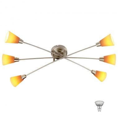 led deckenleuchte mit gelb orangen lampenschirmen lampen m bel innenleuchten deckenleuchten. Black Bedroom Furniture Sets. Home Design Ideas