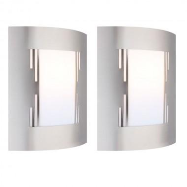 2er set wandleuchten f r den au enbereich lampen m bel. Black Bedroom Furniture Sets. Home Design Ideas