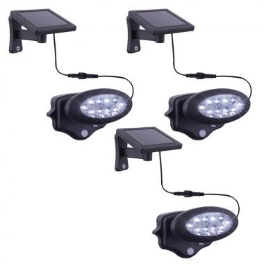 3er set led solar lampe au en beleuchtung garten lampe sensor beweglich anthrazit lampen m bel. Black Bedroom Furniture Sets. Home Design Ideas