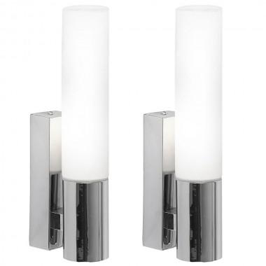 2er set wand spot strahler leuchte lampe licht ip44 indoor badezimmer lampen m bel. Black Bedroom Furniture Sets. Home Design Ideas