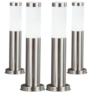 4er set led au en steh lampen 7 watt terrassen stand. Black Bedroom Furniture Sets. Home Design Ideas