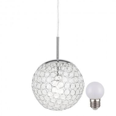 design led pendellampe aus chrom mit kristallen lampen m bel innenleuchten h ngeleuchten. Black Bedroom Furniture Sets. Home Design Ideas