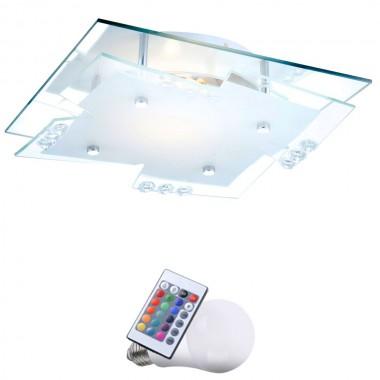 elegante decken leuchte esszimmer lampe farbwechsler dimmbar im set inkl rgb led leuchtmittel. Black Bedroom Furniture Sets. Home Design Ideas