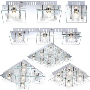 wand deckenlampe mit verschieden vielen strahlern aus chrom lampen m bel innenleuchten. Black Bedroom Furniture Sets. Home Design Ideas