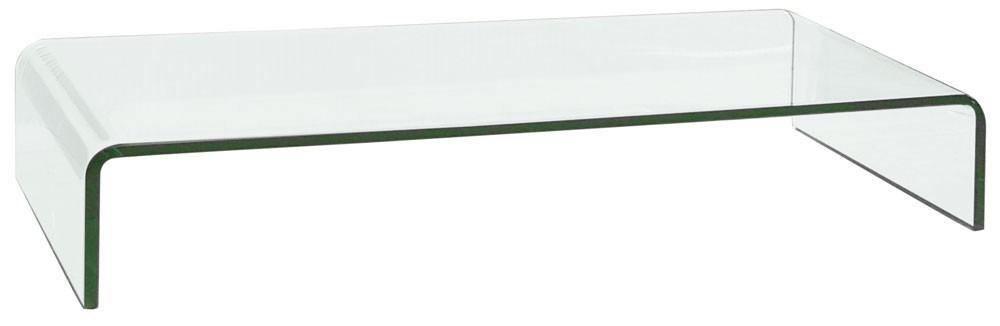 Tv aufsatz 12mm klares glas formgebogen glas 80cm - Dekoration glastisch ...